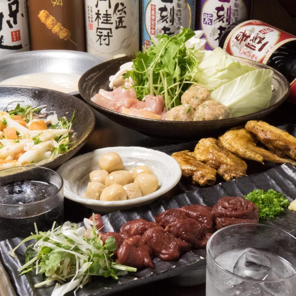 とりいちず酒場 市川北口店の鶏料理もお酒もしっかり楽しめるコース